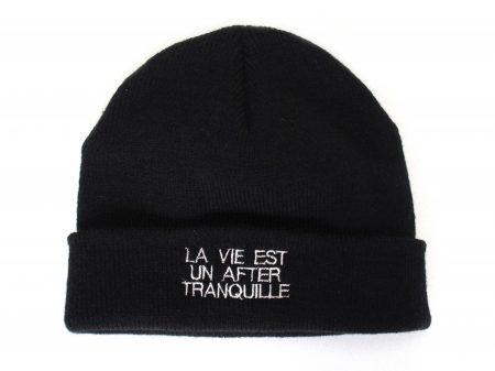 Bonnet La vie est un after tranquille – Noir