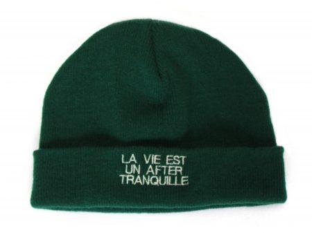 Bonnet La vie est un after tranquille – Vert